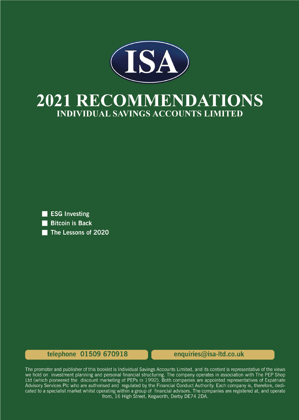 2021 Recommendations